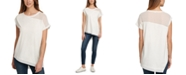 DKNY Mixed-Media Top