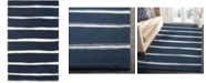 Martha Stewart Collection Chalk Stripe MSR3617C Navy 10' x 14' Area Rug