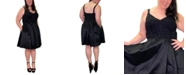 Emerald Sundae Trendy Plus Size Lace-Top Fit & Flare Dress
