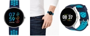 iTouch Men's Sport Navy & Turquoise Silicone Strap Touchscreen Smart Watch 43.2mm