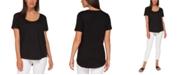 Black Tape Scoop-Neck T-Shirt