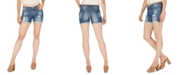 Numero Distressed Cuffed Denim Shorts