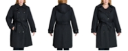 London Fog Plus Size Hooded Belted Trench Coat, Created for Macy's