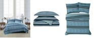 London Fog Mitchell Stripe 2 Piece Comforter Set, Twin XL