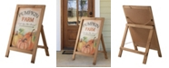 """Glitzhome 24"""" Fall Wooden Porch Sign or Standing Decor"""