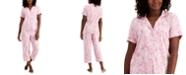 Charter Club Printed Capri Pants Pajama Set, Created for Macy's