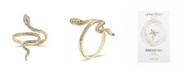 Unwritten Crystal Snake Bypass Ring