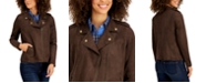 Style & Co Faux Suede Moto Jacket, Created for Macy's