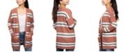 Hippie Rose Juniors' Super-Soft Striped Cardigan