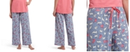Hue Cat-Print Classic Pajama Pants
