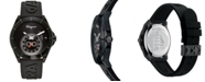 Ferragamo Men's Swiss Urban Black Silicone Strap Watch 43mm