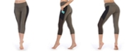 American Fitness Couture High Waist Three-Fourth Length Compression Pocket Mesh Leggings