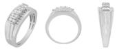 Macy's Men's Diamond (1/2 ct. t.w.) Ring in 10K White or Yellow Gold