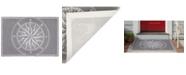 "Liora Manne' Liora Manne Frontporch Compass Black and Gray 2'6"" x 4' Area Rug"