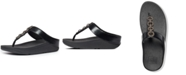 FitFlop Women's Fino Sparkle Thong Wedge Sandals