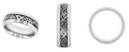 C&C Jewelry Macy's Men's Filigree Stainless Steel Wedding Band