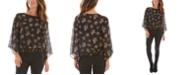 BCX Juniors' Floral-Dot-Print Smocked-Hem Top