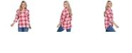 Lids UG Apparel Georgia Bulldogs Women's Flannel Boyfriend Plaid Button Up Shirt