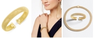 Italian Gold Mesh Bangle Bracelet in 14k Gold over Sterling Silver