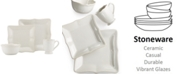 Lenox Dinnerware, French Perle Bead White Square 4 Piece Place Setting