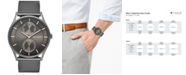 Skagen Men's Holst Smoke-Tone Stainless Steel Mesh Bracelet Watch 40mm SKW6180