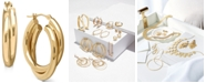 Macy's Double Hoop Earrings in 14k Gold