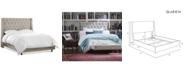 Skyline Marcone Wingback Bed - Queen