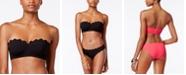 Jessica Simpson Under the Sea Scalloped-Edge Textured Underwire Bikini Top
