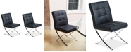 Noble House Kalem Set of 2 Leather Side Chairs