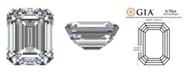 Macy's GIA Certified Diamond Emerald (3/4 ct. t.w.)