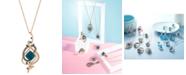 Le Vian Exotics® Deep Sea Blue Topaz™ (5-3/8 ct. t.w.) and Diamond (3/4 ct. t.w.) Pendant Necklace in 14k Rose Gold