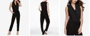 Bar III Sleeveless Draped Jumpsuit, Created for Macy's