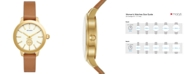 Tory Burch Women's Collins Luggage Leather Strap Watch 38mm
