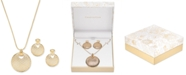 """Charter Club Large Disc Pendant Necklace and Earring Set, 17"""" + 2"""" extender, Created for Macy's"""