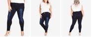 City Chic Trendy Plus Size Ultra-Skinny Short Jeans