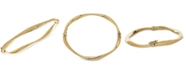 Italian Gold Wavy Hinged Bangle Bracelet in 10k Gold