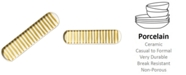 Coton Colors by Laura JohnsonGold Stripe Scoop Oval Tray