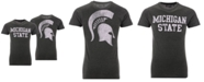Retro Brand Men's Michigan State Spartans Team Stacked Dual Blend T-Shirt