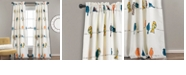 "Lush Decor Rowley Birds Room Darkening 52"" x 84"" Window Curtain Set"