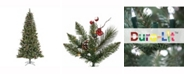 Vickerman 7' Snow Tipped Pine and Berry Artificial Christmas Tree with 350 Clear Lights