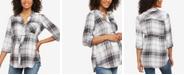 Motherhood Maternity Plaid Cotton Shirt