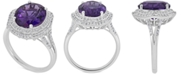 Macy's Amethyst (5 ct. t.w) and White Topaz (1 ct. t.w) Ring in Sterling Silver