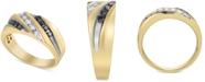 Macy's Men's Diamond Diagonal Ring (1/2 ct. t.w.) in 10k Gold