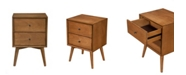 Alpine Furniture Two-Drawer Accent Table, Acorn Finish