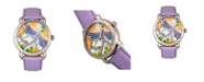 Bertha Quartz Jennifer Collection Silver And Lavender Leather Watch 38Mm