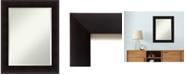 Amanti Art Nero 31x25 Wall Mirror