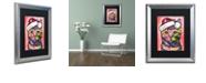 "Trademark Global Dean Russo 'Christmas Cat' Matted Framed Art, 16"" x 20"""