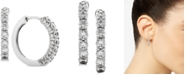 Macy's Diamond Hoop Earrings (1 ct. t.w.) in 14k White Gold