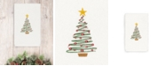 Linum Home CLOSEOUT!  Christmas Tree 100% Turkish Cotton Hand Towel