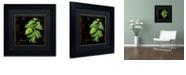 "Trademark Global Color Bakery 'Black Gold Herbs Iv' Matted Framed Art, 11"" x 11"""